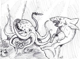 Of Sharks and Octopuses by arvalis