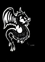 Gothic Dragon Tattoo by Silgan