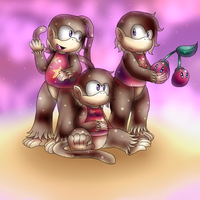 Double Cherry Monkey by Twin-Cats