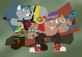 Bebop and Rocksteady by thegreatjery