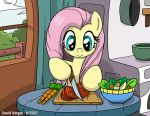 Fluttershy Pony Chef by LateCustomer
