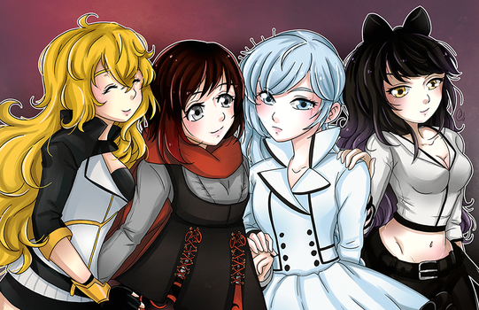 [F] TEAM RWBY - The Good Ol' Days by AngelDranger