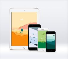 Google Material Design Calendar Wallpapers x12 by Ziggy19