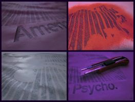 American Psycho stencil making by heinpold