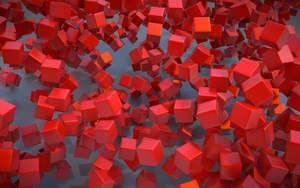 Red Voxels by Storkner