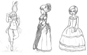 Lady like sketches by EclecticNerd