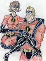 Mr and mrs Incredible by theaven