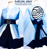 Water Tribe - Avatar - Cosplay Lolita Kimono Dress by DarlingArmy