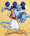 Aladdin and the Genie by MillerBox