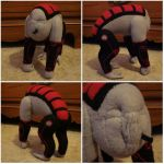 Custom plush - Harot, Mass Effect by silentorchid