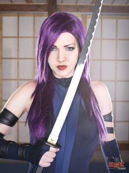 Psylocke in Training 2 by Miracole