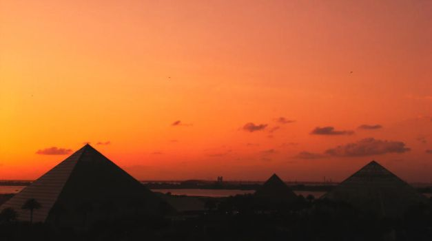 Sunset Over Moody Gardens 2 by ErinM2000