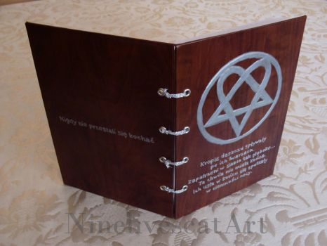 Notebook with heartagram and poem by NinelivescatArt