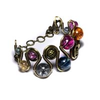 Steampunk Bracelet Tourmaline by CatherinetteRings