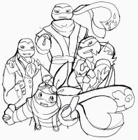 Four Gym Leader Turtles by WolffangComics