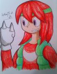 Knuckles the Echidna ( human ) by Artfrog75