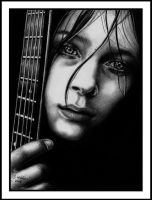 Guitarist by Sariella