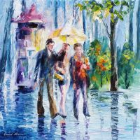 Rainy Match by Leonid Afremov by Leonidafremov