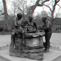 Zilker Statue Anaglyph by Temphis