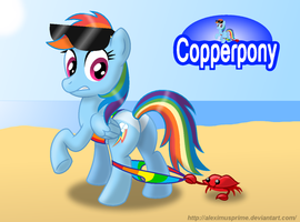 Coppertone Rainbow Dash by AleximusPrime