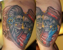 neo traditional work by Ivan Bor by HammersmithTattoo