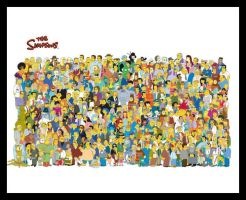 Simpsons Characters by Raviskool