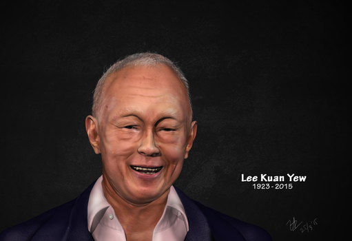 LeeKuanYew 3d bust by vennyl2001