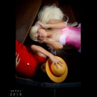 Luffy and Chii by Renez