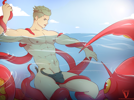 Ocean Swim Redraw by GasaiV