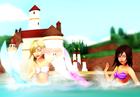 MMD KH - Playful Mermaids by XxChocolatexHeartsxX