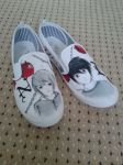 Men Death note shoes by imaginationSJD