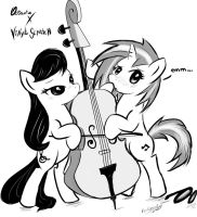 Octavia and Vinyl scratch by NyuKyosumi213