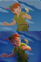 Disney Peter Pan Paintover by obbombre