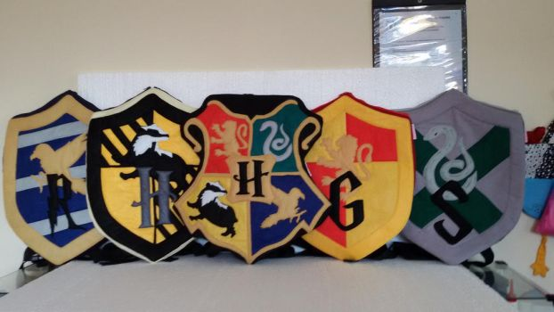 Handmade Harry Potter Hogwarts Houses Backpack Set by RbitencourtUSA