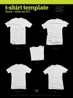 Blank T-Shirt - White 001 by angelaacevedo