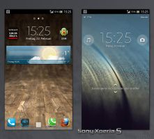 My Sony Xperia S by hypercrites