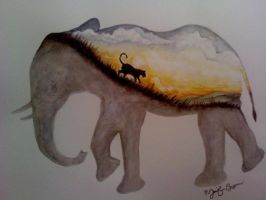 Elephant Painting by pandaloverlol