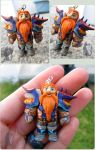 Crafted WoW Dwarf from Polymer Clay by Talty