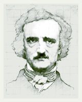 Edgar Allan Poe by SILENTJUSTICE