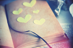 pressed pastel hearts by cyristine