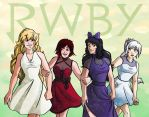 Lovely Team RWBY by ReaperClamp