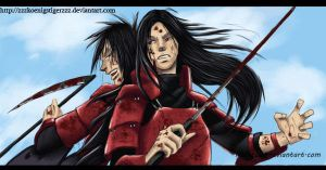 Madara and Hashirama by ZzZKoenigstigerZzZ