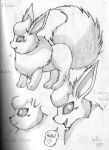 Flareon Sketches 2 by Flareon-Jupiter