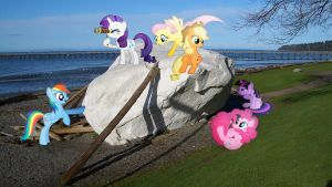Mane 6 At White Rock by Macgrubor