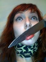 Psychopath- Be moron get a knife by Sass-Haunted