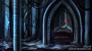 Neonormant Laboratory Gate Concept Speedpaint by Vapolord