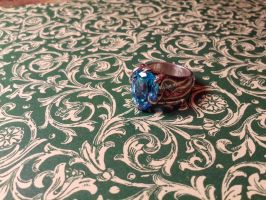 topaze vegetable silver ring 2 by Debals