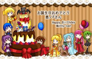 Happy B-day mothy-san by Hoshi-Wolfgang-Hime