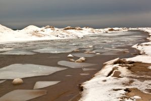 Ice Floes at Little Sable Point 1 by starfire777
