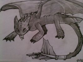 toothless is ready by SQUIRRELADOR